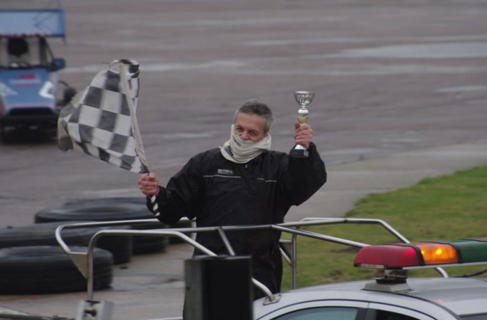 Victory lap for Andy Hopkins